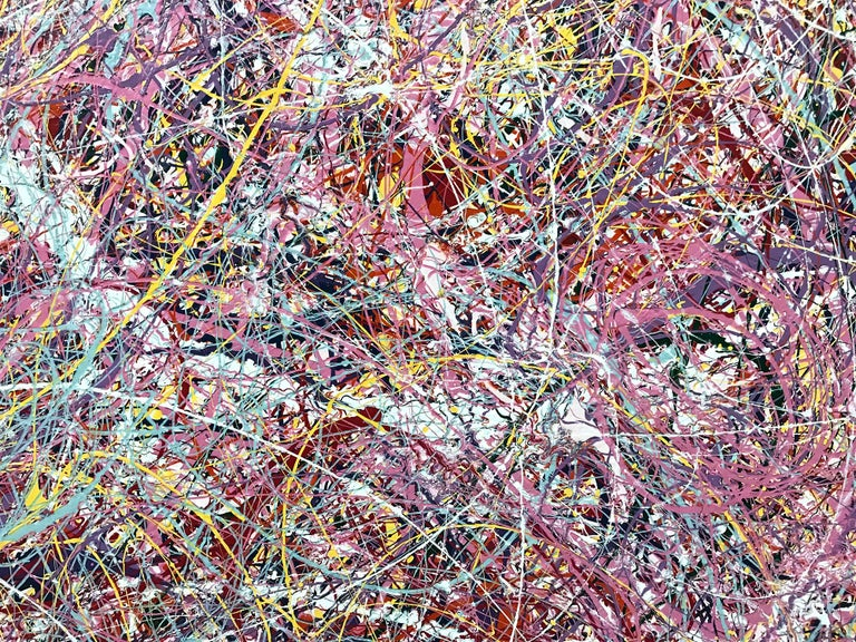 Jackson Pollock Style Abstract Expressionist Colorful Painting 3