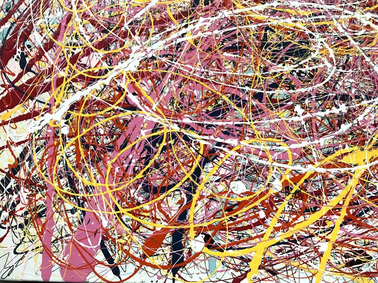 Jackson Pollock Style Abstract Expressionist Colorful Painting 4