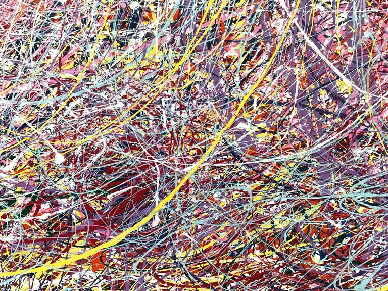 Jackson Pollock Style Abstract Expressionist Colorful Painting 5