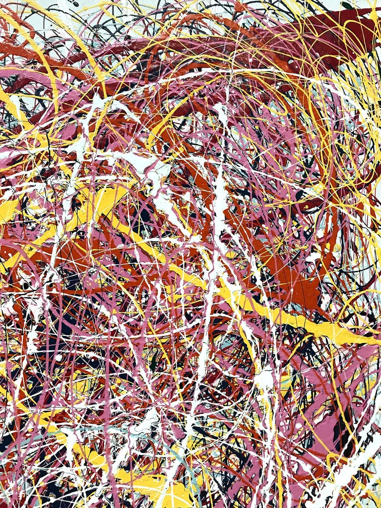 Jackson Pollock Style Abstract Expressionist Colorful Painting 6