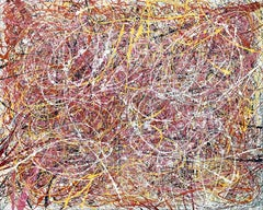Jackson Pollock Style Abstract Expressionist Colorful Painting