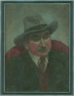 Jacqueline Buckley - Signed & Framed 20th Century Oil, Portrait of a Gentleman