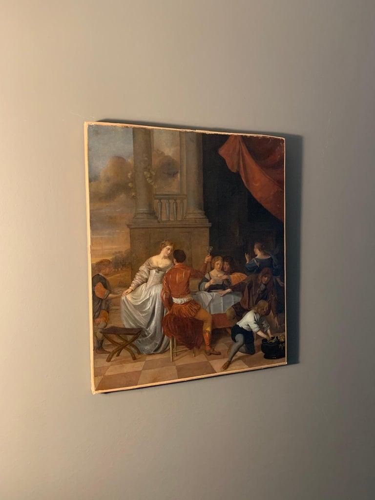 Jan Van Zyl - The Celebration - 17th century dutch elegant company Festive For Sale 2