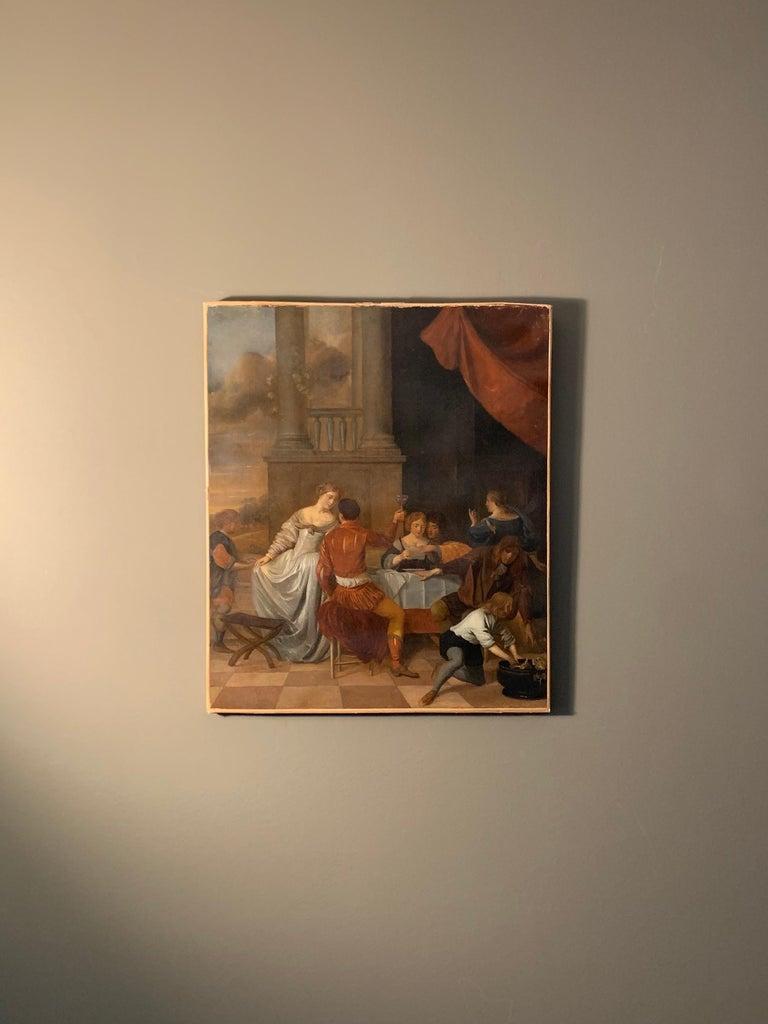 Jan Van Zyl - The Celebration - 17th century dutch elegant company Festive For Sale 1