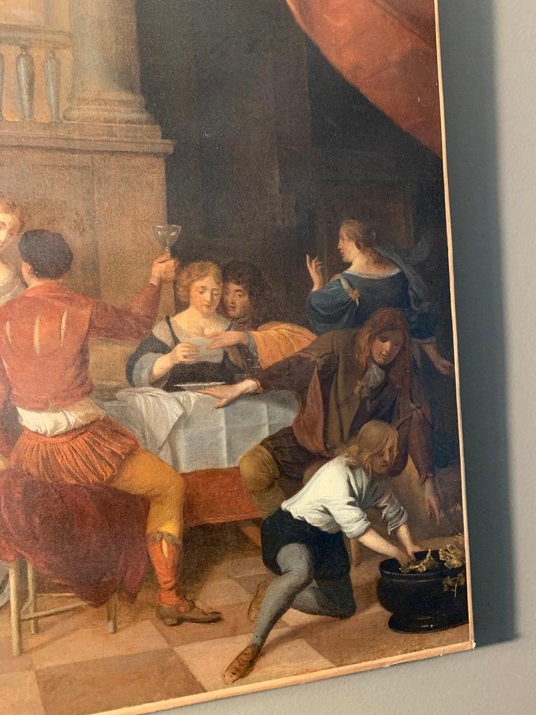 Jan Van Zyl - The Celebration - 17th century dutch elegant company Festive For Sale 4