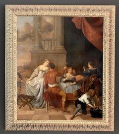 Gerard Pietersz van Zijl -The Celebration- 17th C. Dutch elegant company Festive