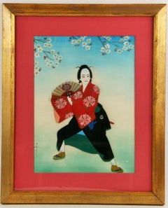 Japanese  Dancer  Figurative Painting