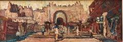 Jerusalem Old City Cityscape Modernist Oil Painting
