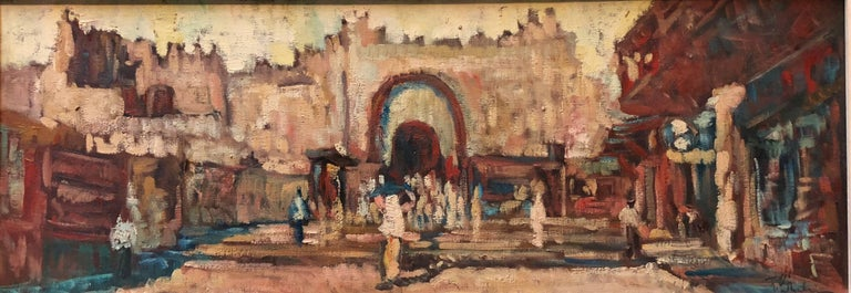Jerusalem Old City Cityscape Modernist Oil Painting