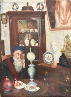 Jewish Antique Dealer, Judaica Oil Painting
