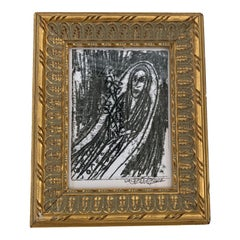Juan Vaquez Cuban Artist framed in Vintage Gold