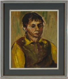 Kaia Mayer (1923-2005) - 20th Century Oil, Portrait of a Figure in Yellow