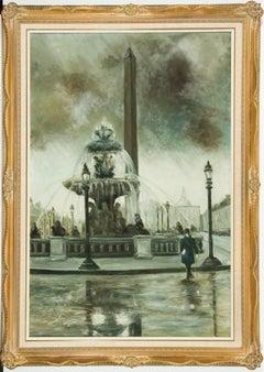L. Catrimo - French School Contemporary Oil, Place la Concorde, Paris,
