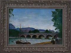 {La Seine et le Pont Neuf à Paris} The Seine and the Pont Neuf in Paris