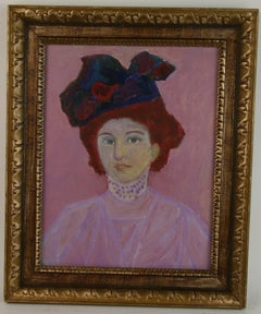Impressionist Lady With Colorful Hat Figurative