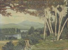 Landscape Oil Painting signed Doris Holt American Mid Century