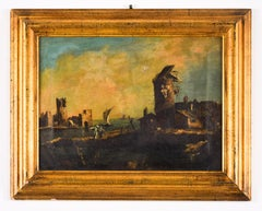 Landscape with Ruins After Destruction - Oil on Canvas - 17th Century