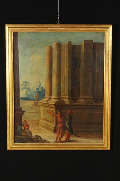 Landscapes with Architectural Buildings and Figures 18th Century