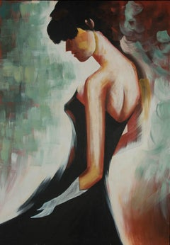 Large Contemporary Acrylic - Portrait of a Woman
