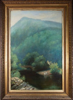 Large Early 20th Century Oil - The River Valley