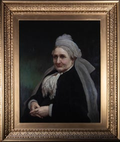 Large, Fine Late 19th Century Oil - The Dowager