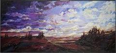 Large Modern Impressionistic Landscape Oil Painting