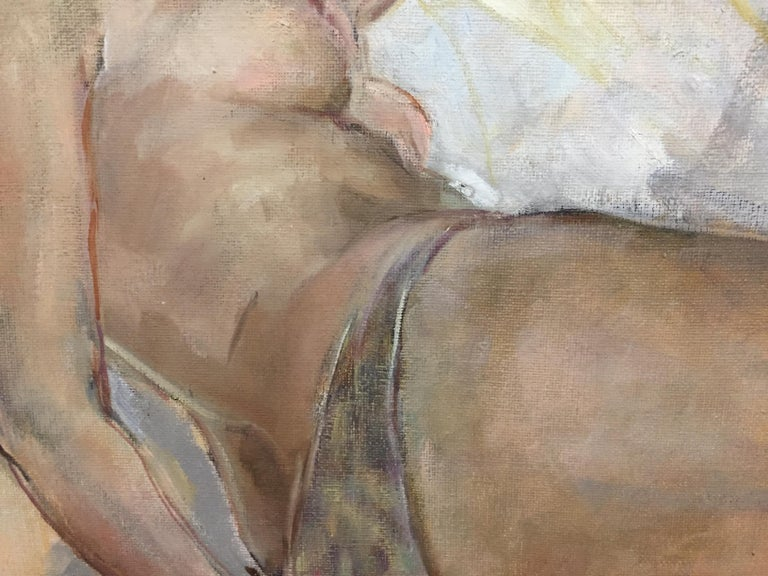 Large Nude - Impressionist Painting by Unknown