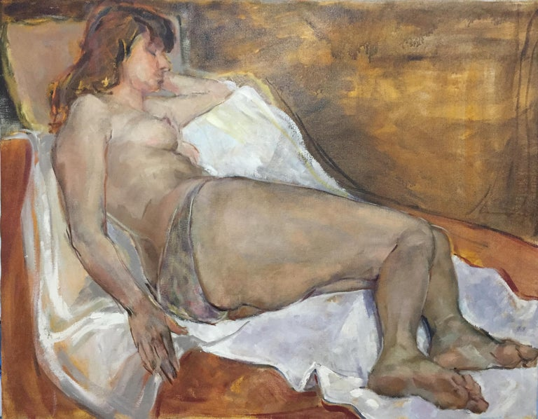 Unknown Nude Painting - Large Nude