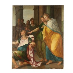 Large Painting Historical Subject Early 17th Century
