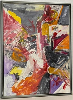 Large Scale Late 20th Century Abstract Painting C.1986