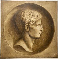 Large Scale Roman Oil Portrait by Tousignant c.1995