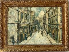 Late 19th century French impressionist Parisian cityscape Belle Epoque Paris