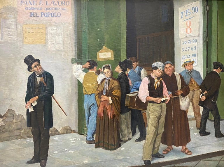 Late 19th Century Italian School Oil Painting For Sale 1