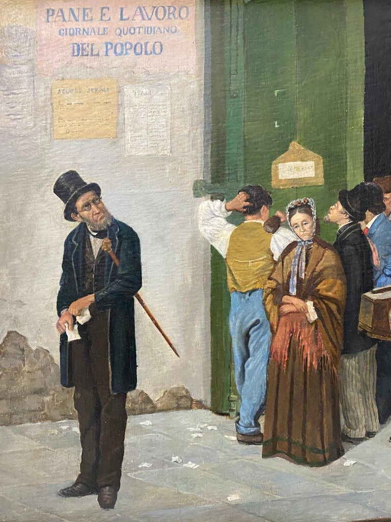 Late 19th Century Italian School Oil Painting For Sale 3