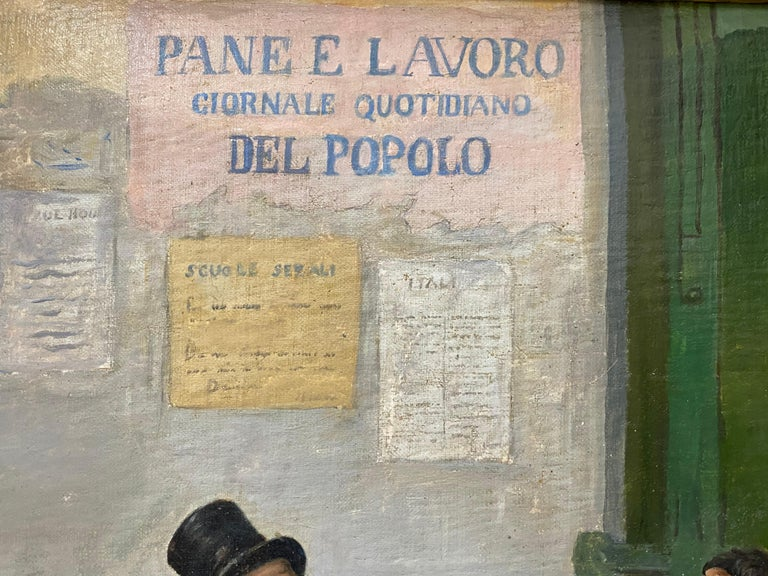 Late 19th Century Italian School Oil Painting For Sale 4