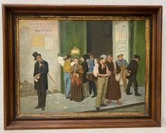 Late 19th Century Italian School Oil Painting