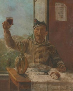 Late 19th Century Oil - A Toast