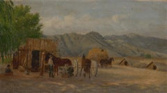 Late 19th Century Oil - American Farm Landscape