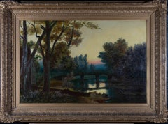 Late 19th Century Oil - River at Dusk