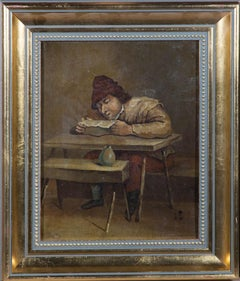 Late 19th Century Oil - The Reader