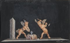 Late 19th Century Putti at the Forge -- Cupid's Arrow