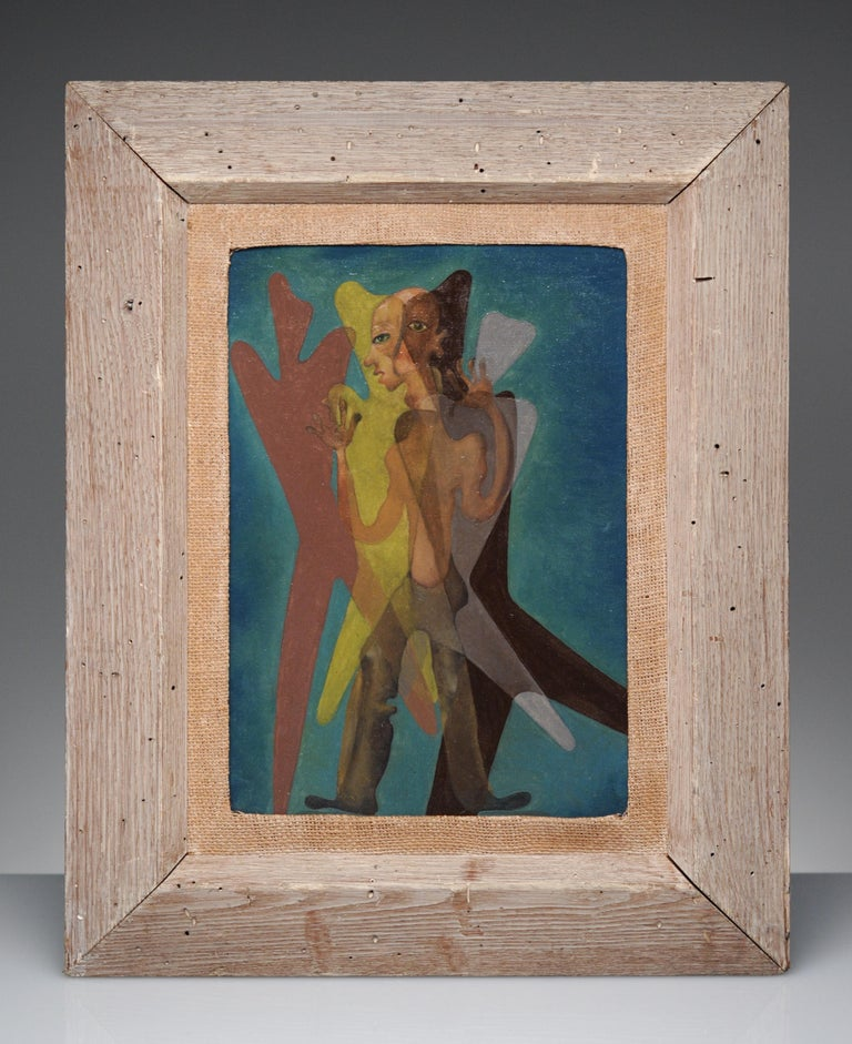 Latin American Surreal Figurative Modern Painting, 1950 - Brown Figurative Painting by Unknown