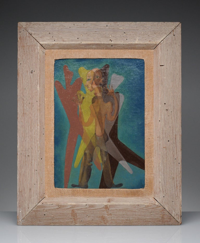 Latin American Surreal Figurative Modern Painting, 1950 For Sale 2