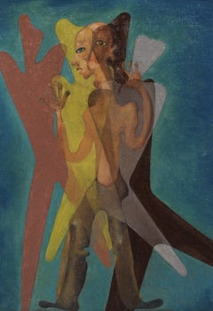 Latin American Surreal Figurative Modern Painting, 1950