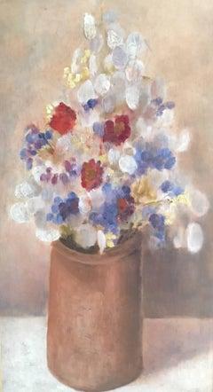 'Le Bouquet' Floral Still Life, Flower Oil Painting