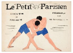 Le Petit Parisien - Tempera on Paper by Anonymous French Artist - Early 1900