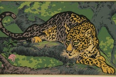 Leopard in The Jungle Animal Painting