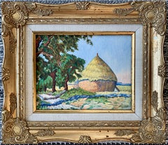 Les meules - French impressionist landscape painting Hay - Countryside Monet