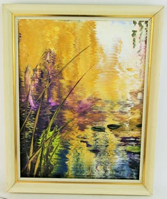 Lilly Pond Abstract Landscape Painting #1