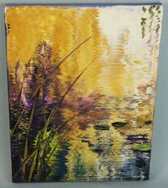 Lilly Pond Abstract Landscape Oil Painting #1